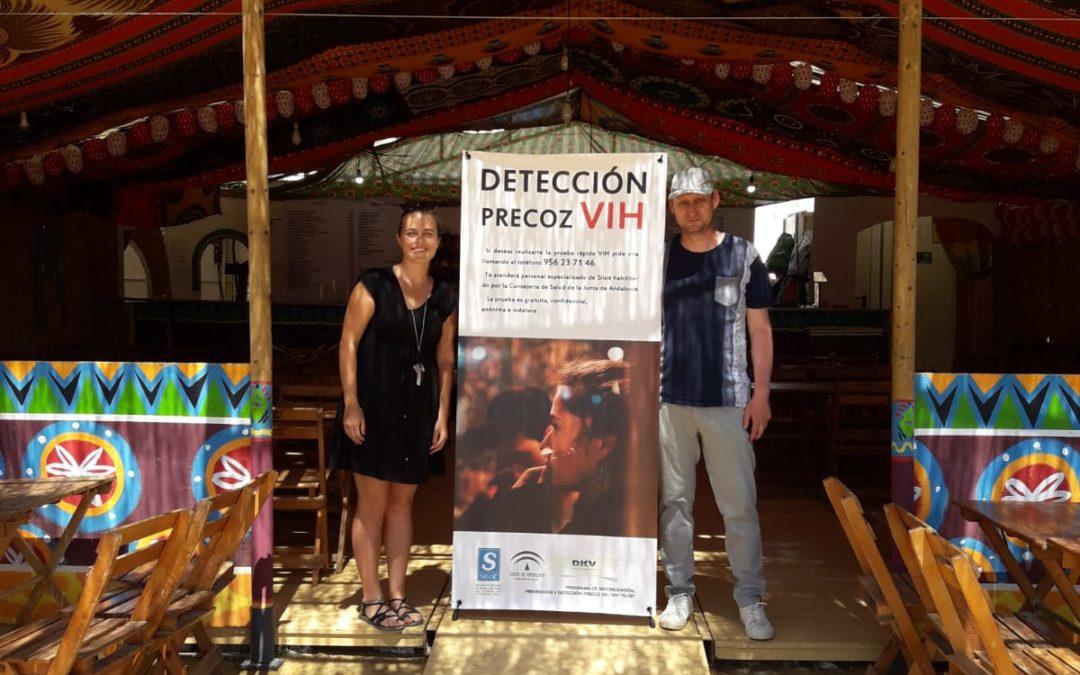 EL Programa VIHDA realiza un acto de sensibilización de la prueba de VIH en la feria de Jerez 2019